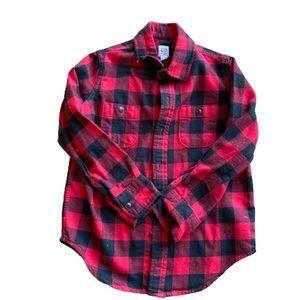 {preloved} Flannel GAP Kids Button Down Top